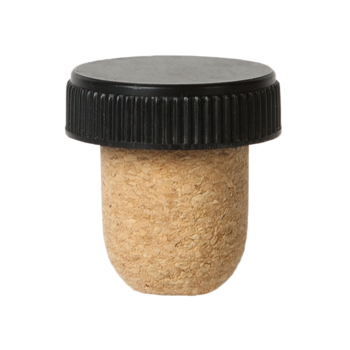 PLASTIC TOP AGGLOMERATED CORK