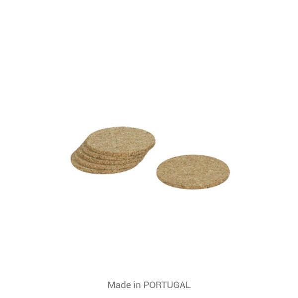 Protect Tables, Decorative Round Cork Coaster - CORKCHO