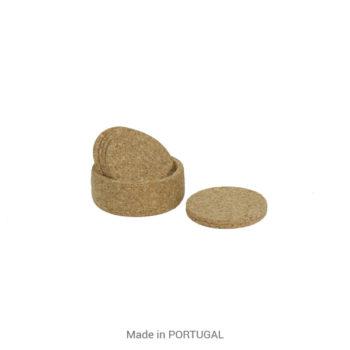 Protect Tables, Decorative Cork Coasters & Bottle Holder - CORKCHO