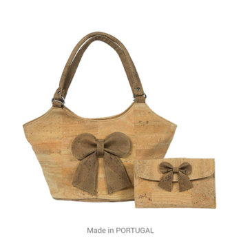 Stylish, spacious Cork Tie designed Purse - CORKCHO