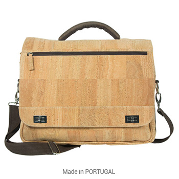 Perfect Cork Business Briefcase Natural - CORKCHO