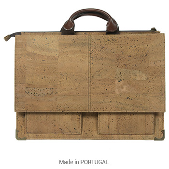 Cork Office Rustic compact Briefcase - CORKCHO