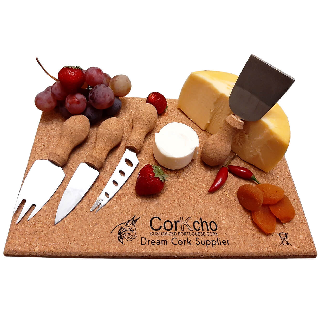 Cork-cheese-set